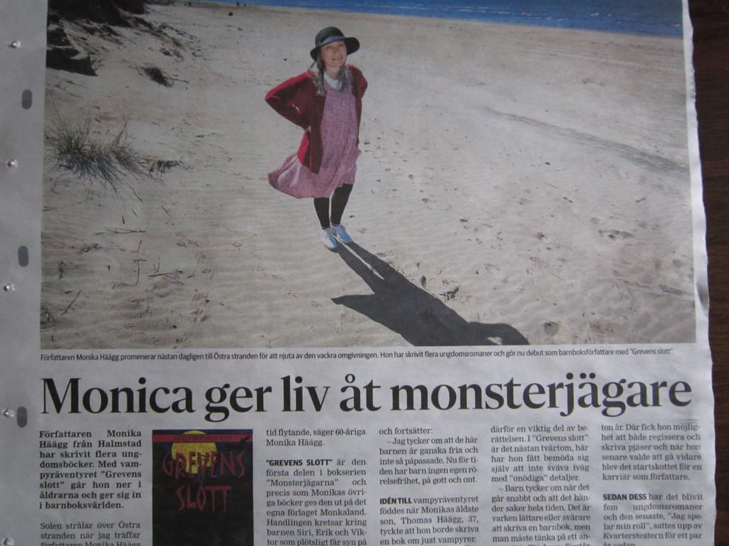 Reportage i tidningen Halmstad7dagar om boksläpp av Grevens slott