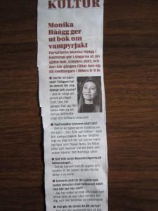 Intervju i Hallandsposten om boksläpp av Grevens slott
